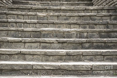 Steps From The Past Print by Tim Sevcik
