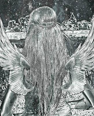 Sterling Angel Print by Absinthe Art By Michelle LeAnn Scott