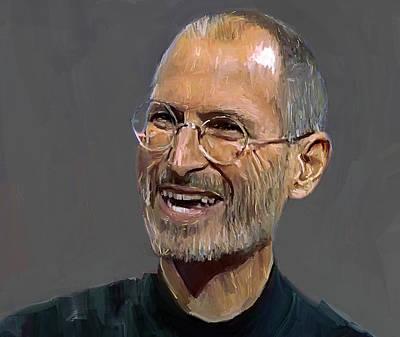 Steve Jobs Print by Yury Malkov