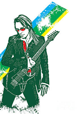 Illusttation Digital Art - Steve Vai No.02 by Caio Caldas