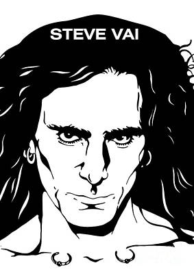 Illusttation Digital Art - Steve Vai No.03 by Caio Caldas