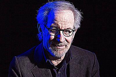 Steven Spielberg Print by Iguanna Espinosa