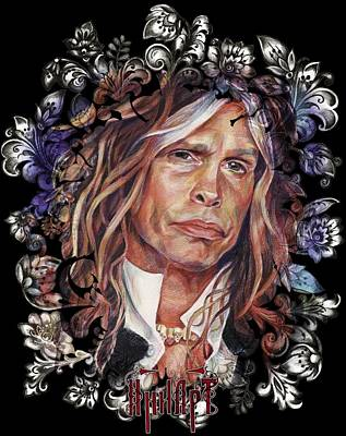 Aerosmith Drawing - Steven Tyler Aerosmith by Inna Volvak
