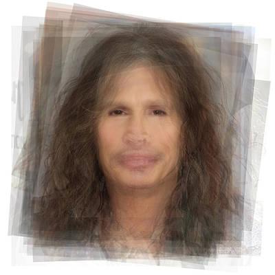 Steven Tyler Digital Art - Steven Tyler, Aerosmith Portrait by Steve Socha