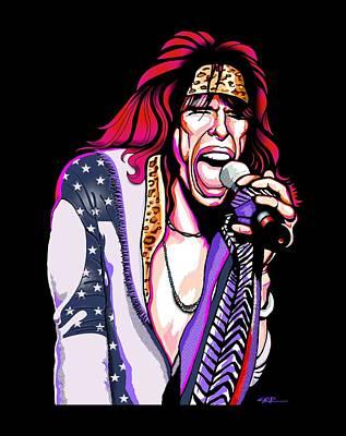 Steven Tyler Digital Art - Steven Tyler Of Aerosmith by GOP Art