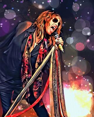 Steven Tyler Digital Art - Steven Tyler  by Scott Wallace
