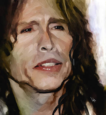 Steven Tyler Mixed Media - Steven Tyler  by Vya Artist