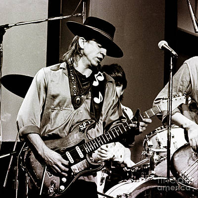 Stevie Photograph - Stevie Ray Vaughan 3 1984 by Chris Walter