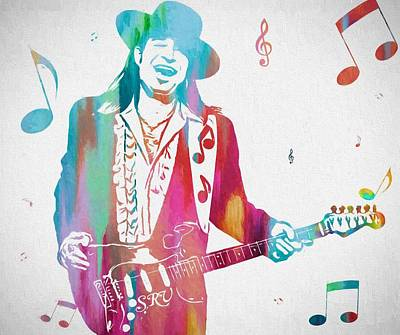 Srv Painting - Stevie Ray Vaughan Music Man by Dan Sproul
