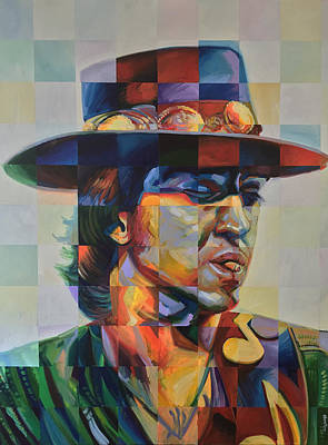 Rays Painting - Stevie Ray Vaughan by Steve Hunter