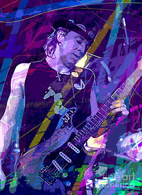 Stevie Ray Vaughan Sustain Print by David Lloyd Glover