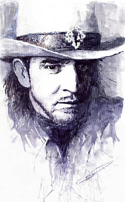 Stevie Painting - Stevie Ray Vaughan by Yuriy  Shevchuk