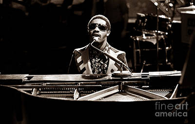 Singer Photograph - Stevie Wonder Softer Gentle Mood - Sepia by Chris Walter