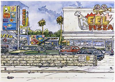 Joy Mixed Media - Sticker Landscape 2 Parking Lot by Karl Frey