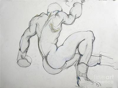 Boxer Mixed Media - Still In The Game - 2 by Carolyn Weltman