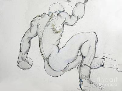 Boxer Mixed Media - Still In The Game - 3 by Carolyn Weltman