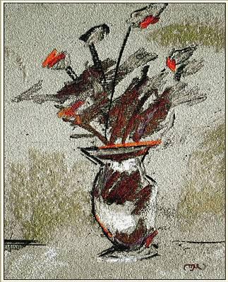 Post Impressionism Mixed Media - Still Life 102 by Pemaro