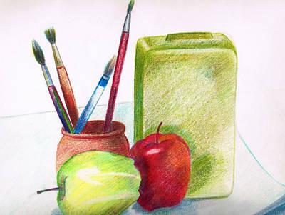 Fruit Painting - Still Life 2 by Zara GDezfuli
