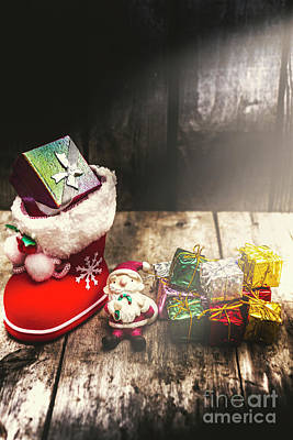 Stockings Photograph - Still Life Christmas Scene by Jorgo Photography - Wall Art Gallery