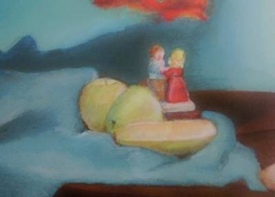 Table Cloth Painting - Still Life by Denise Fulmer