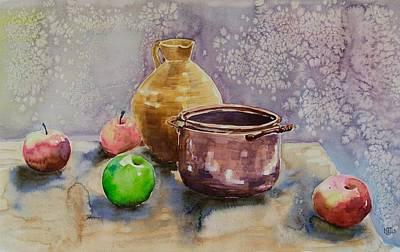 Merging Painting - Still Life I by Natasha Junmanee