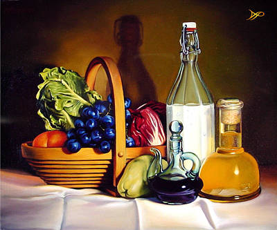 Lettuce Painting - Still Life In Oil by Patrick Anthony Pierson