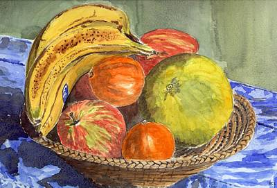 Grapefruit Painting - Still Life by Mike Lester