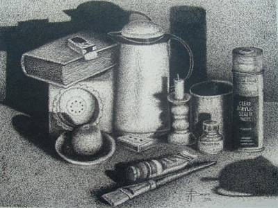Etc Drawing - Still Life by Mohamed Bangura