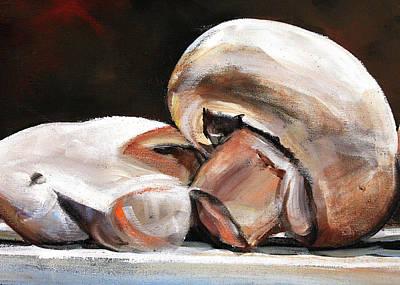 Mushroom Painting - Still Life Mushrooms by Toni Grote