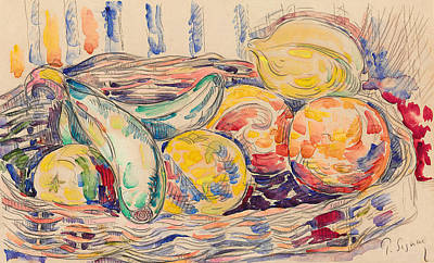 Food And Beverage Drawing - Still Life  by Paul Signac