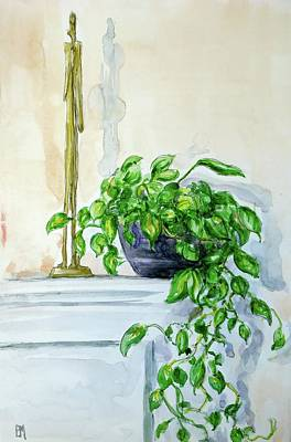 House Plant Drawing - Still Life by Pete Maier