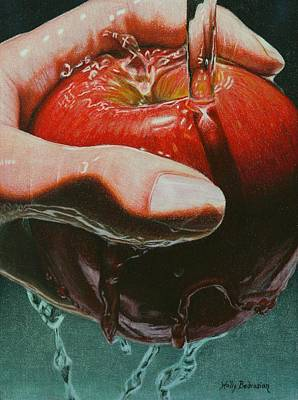 Color Pencil Drawing - Still Life Sabotage by Holly  Bedrosian