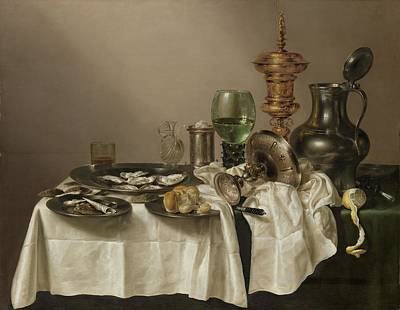 Still Life With A Gilt Cup, 1635 Print by Willem Claesz