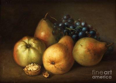 Still Life With Green Apples Painting - Still Life With Apples by Johannes Bouman