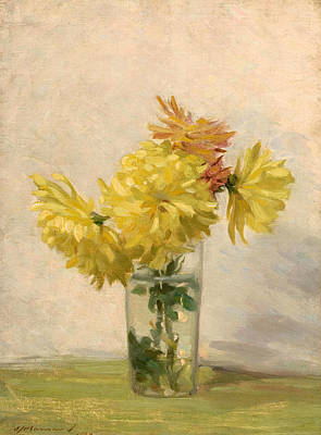 Painting - Still Life With Bouqet Of Yellow Flowers by Edward Herbert Barnard