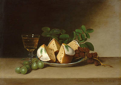 Still Life With Cake Print by Raphaelle Peale