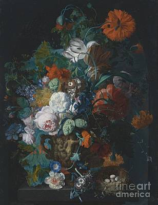 Still Life With Flowers Print by Celestial Images