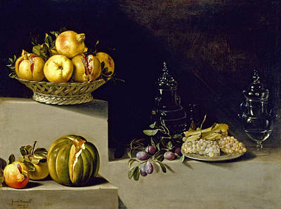 Juan Van Der Hamen Painting - Still Life With Fruit And Glassware by Juan van der Hamen y Leon
