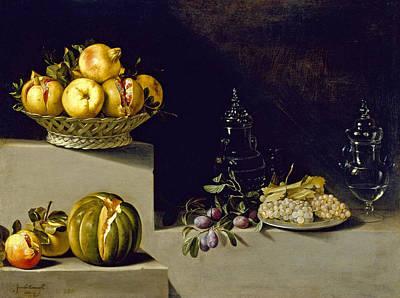 Juan Van Der Hamen Painting - Still Life With Fruit And Glassware by Juan van der Hamen y Leon