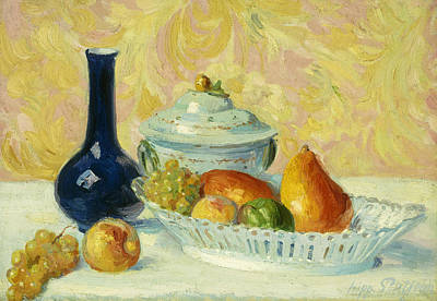 Pears Painting - Still Life With Fruit    Nature Morte Aux Fruits by Hippolyte Petitjean