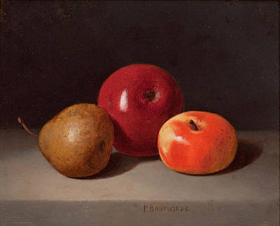 Painting - Still Life With Fruit by Peter Baumgras