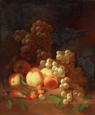 Rhodes Painting - Still Life With Fruits by Joseph Rhodes