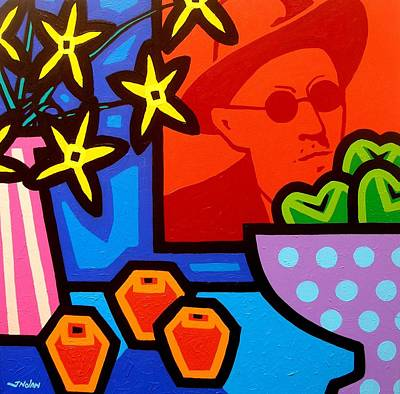 Crying Painting - Still Life With James Joyce  by John  Nolan