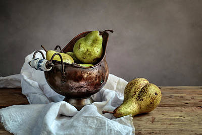 Mesh Photograph - Still-life With Pears by Nailia Schwarz