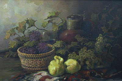 Still-life With Quinces Print by Tigran Ghulyan