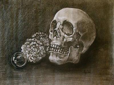 Skull Painting - Still Life With Skull by Ixchel Amor