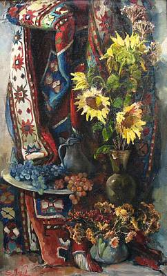 Still-life With Sunflowers Print by Tigran Ghulyan