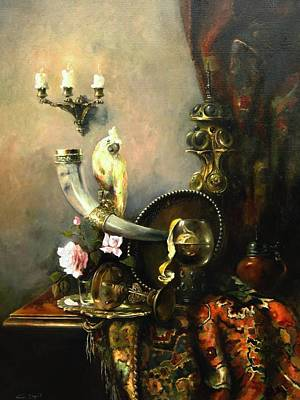 Still-life With The Dojra Print by Tigran Ghulyan