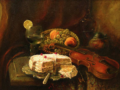 Still-life With The Violin Print by Tigran Ghulyan