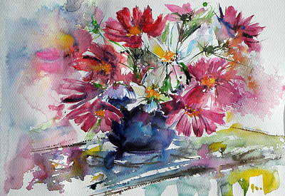 Still Life With Windflowers Print by Kovacs Anna Brigitta